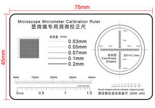 Microscope Use Micrometer Calibrator Magnifier Film Point Gauge High Precision
