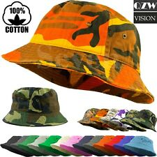 Bucket Fishing Boonie Cotton Hat Cap Brim Visor Sun Safari Military Camp Travel