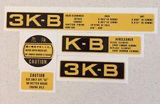 3K-B Toyota Corolla Engine 5 Decal Set. Free post Worldwide. KE10, KE20, KE30
