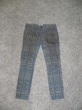 Free People Jeans Printed Multi-Color Womens 27 X 26 Crop NWOT