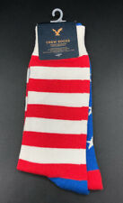 NEW AE American Eagle USA Flag Stars & Stripes Red White Blue Crew Socks