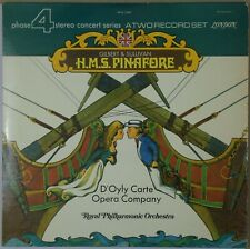 D'OYLY CARTE OPERA Gilbert & Sullivan HMS Pinafore LONDON Phase 4 (2-LP) NM