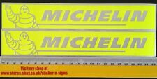 2x Fluro Yellow 220mm x 34mm Michelin Stickers Decal Sticker