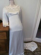 vintage edward black white satin wedding dress uk size 8