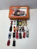 """""""MATCHBOX"""" 2001 24-CAR CARRYING CASE with FIRE ENGINE ON COVER With 19 Cars"""