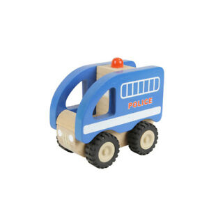NEW Masterkidz Wooden My First Police Car Toddler Kids Toys