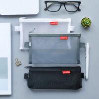 Portable Mesh Makeup Cosmetic File Storage Case Zipper Bag Pouch Organizer
