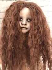 "Ooak Creepy Horror Ghost Girl 17"" Wild Hair Sad Lost Soul Pale Skin Ring Style"