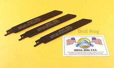 "6"" CARBIDE GRIT Sawzall Blade Reciprocating Saw Blade Recip 3 Pack MADE IN USA"