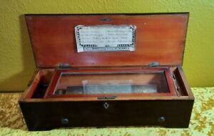 ANTIQUE VICTORIAN SWISS 8 AIR CYLINDER MUSIC BOX