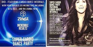 Zumba Fitness DVD SUPER CARDIO DANCE PARTY Zes Superstars-55 minutes-14 routines