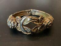 Vintage Lion Head Bangle Bracelet