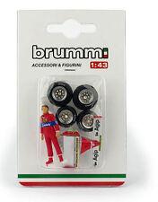 Brumm CH02T Accessorio & FIGURINA Set-DIDIER PIRONI FERRARI 126CK 1981 1 / 43