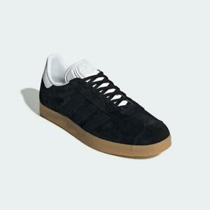 Adidas Gazelle Trainers Black White Gum Authentic Brand New