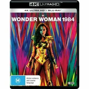 WONDER WOMAN 1984 4K Ultra HD + Blu-Ray BRAND NEW 2 DISC SET Region B SEALED