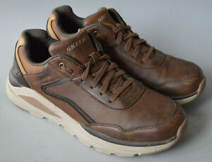 Men's Brown Skechers Relaxed Fit Verrado - Crafton Lace Up Casual Shoe Size UK 9
