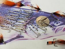 40 X SALMON  TROUT FLY TYING TREBLE BARBED HOOKS SIZE 10 NICKEL SILVER FISHING
