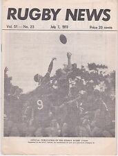RUGBY NEWS SYDNEY VOL 51 NO 23 MANLY V UNIVERSITY OF NEW SOUTH WALES   7/7/73