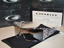 New with Everything Oakley Oil Rig® 9081-0128 Polished Clear - Black Iridium.