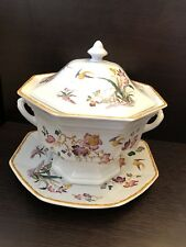 Wedgwood Tureen and lid with under plate Devon rose