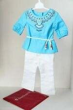 American Girl Saige's Tunic Outfit-tunic, pants, and shoes-EUC Retired-GOTY
