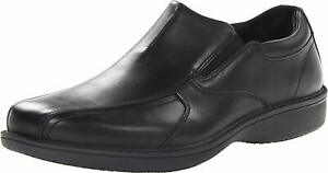 Men's Shoes Clarks WADER TWIN Casual Leather Slip On Loafers 66116 BLACK