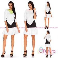 Round Neck 3/4 Sleeve Geometric Dresses for Women