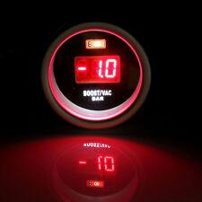 UNIVERSAL 2'' 52MM CAR RED LED DIGITAL DISPLAY TURBO BOOST VACUUM GAUGE BAR 12V