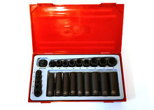 "Teng Tools TT9024 Drive impact socket set of 24Piece 1/4""; 3/8"" drive 132470105"