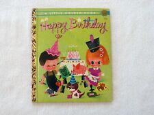 "Happy Birthday, Little Golden book #384, 1960 ""B"" printing, hard to find, 29c"