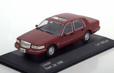 LINCOLN TOWN CAR 1996 DARK RED WHITEBOX WB133 1/43 ROUGE FONCE USA CAR US METAL