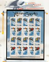 us scott # 3321-24 33c xf mnhog sheet of (20) stamps Xtreme Sports 1999 commeora
