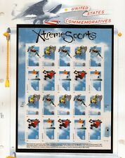us scott # 3321-24 33c xf mnhog sheet of (20) stamps Xtreme Sports 1999 commeora