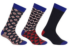 TED BAKER CUPID GEO PRINT MULTI PACK MIXED SOCK SOCKS SET PACK OF 3 NEW!!!