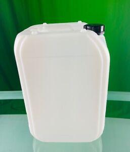 Kanister natur weiß inkl. Deckel und Auslaufhahn, Kunstoffkanister 25 Liter