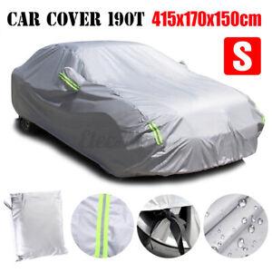 190T Waterproof Full Sedan Car Cover UV Sun Snow Dust Rain Scratch Resistant S
