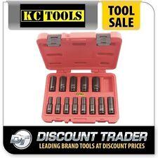 KC Tools 13 Piece Deep Impact Socket Set Metric 3/8″ Square Drive - 11209