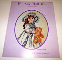 COUNTED CROSS STITCH PATTERN LEAFLET LONDON DOLL CO. STEINER & FRIEND 1980S
