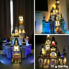 LED Light Kit ONLY With USB Hub For Lego 71040 The Disney Castle Lighting