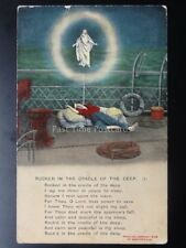 Bamforth & Co Song Card ROCKED IN THE CRADLE OF THE DEEP (1) No.4556 c1909