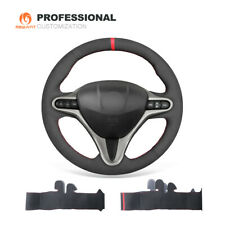 Black Suede Car Steering Wheel Cover for Honda Civic Civic 8 2006-2011 (3-Spoke)
