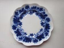 "Flow Blue Plate Gefle  Vinranka Percy made in Sweden 8.5"""