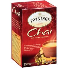 Twinings of London Chai Tea -Six Boxes of 20.  120 Total Servings!