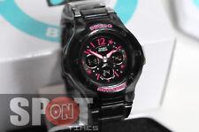Casio Baby-G Black Alarm World Time Dress Ladies Watch BGA-121C-1B2