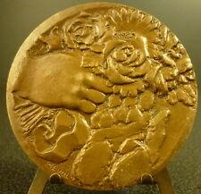 Médaille Services rendus sc Révol services rendered flower 69 mm sunset Medal