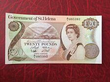 1986 St. Helena 20 Pounds ( P 10 ) - UNC -