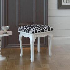 Dressing Stool Bedroom Chic Make Up Chair Elegant Living Room Fbric Black Q6A3