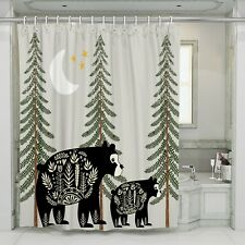 Nordic Bear Rustic Shower Curtain by FolkNFunky