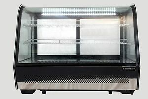 COLD COUNTERTOP 160LT REFRIGERATED COLD DISPLAY FRIDGE CAKES CABINET SUSHI GLASS