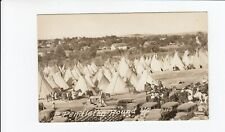 Real Photo Postcard Pendleton Round Up Native Americans + Tents